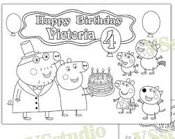Small Picture Peppa Pig Birthday coloring pages activity PDF file