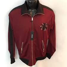 sel jacket sz l mens large red er zipper lightweight fleece lining new