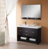 small double vanity. Modren Small 47 Inch Modern Double Sink Bathroom Vanity In Espresso With Open Shelf On Small Unique Vanities