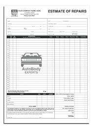 auto repair forms automotive work order template forms best of auto repair