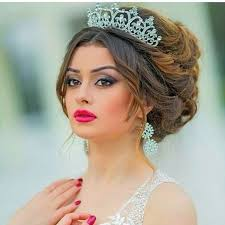 اجمل اشكال اكسسوارات شعر للعروس من انستقرام مشاهير
