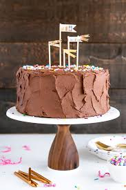 the ultimate birthday cake a clic yellow cake with a rich chocolate frosting and colorful