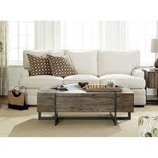 rustic brown wood coffee table modern