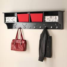wall mounted coat rack in black