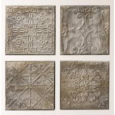 >3r studios 12 5 in h x 12 5 in w antiqued tin tiles wall art  3r studios 12 5 in h x 12 5 in w antiqued tin tiles