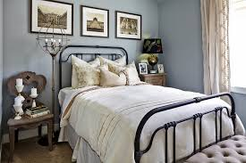 Wrought Iron Bed Frames Bedroom Traditional with Black Lampshade Black Metal  Bed Frame Floor