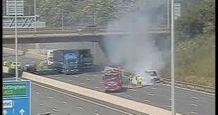 Live updates: Large crash and fire close <b>M1</b> near East Midlands ...