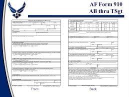 af form 910 enlisted evaluation system ppt video online download