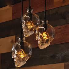 array vintage skull head glass pendant light hanging pendant lamps for art decoration edison pendant lights