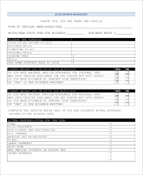 Personal Expenses Worksheet Sample Expense Sheet 11 Examples In Pdf Excel