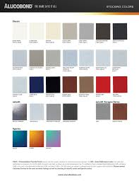 Astm Color Chart Alucobond Stock Color Chart