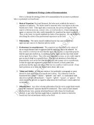 sample letters of recommendation o revised dances