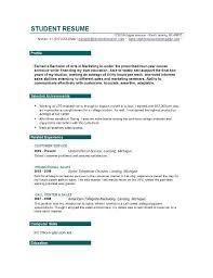 Resume Objective Sample For Students Resume Corner
