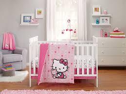 hello kitty cute as on 3 piece crib bedding set