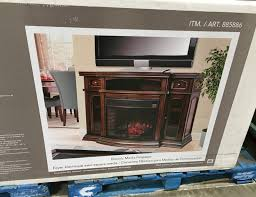 ember hearth electric media fireplace entertainment console and heater all in one