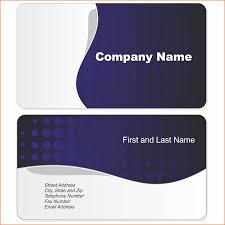Microsoft Word Blank Business Card Templates Free For Sample