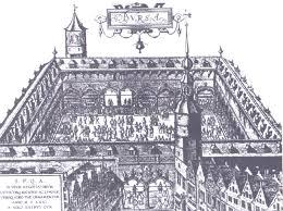 Что такое биржа Я Историк Биржа в Антверпене Старинный рисунок bir 0008