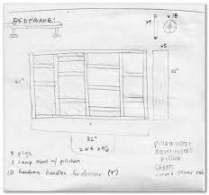 diy log bed frame plans free pdf kitchen cabinet plans image