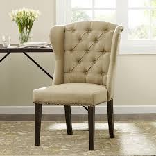 tufted wingback dining chair ilashome for inspirations 5