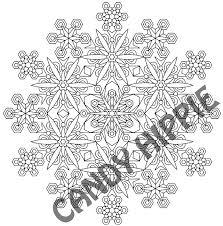 Snowflake Mandala Coloring Page Printable Pdf By Candy Hippie