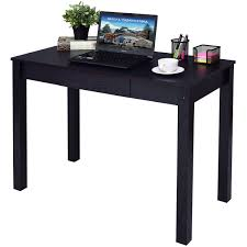 home office writing desk. Costway Black Computer Desk Work Station Writing Table Home Office Furniture W/Drawer 0