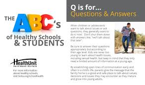 health topic school newsletters health unit haldimand norfolk questions answers