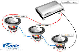 2 ohm wiring 2 auto wiring diagram ideas subwoofer wiring diagrams sonic electronix on 2 ohm wiring