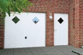 garage door and side door open for infill