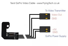 tarot gopro video and power cable for t 2d gimbal flying tech tl68a10 connections 34 29 kb