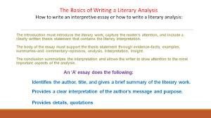 interpretation essay example essays of literary interpretation  3 the introduction interpretation essay example