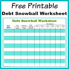 Debt Goal Chart Free Printable Debt Snowball Worksheet Pay Down Your Debt