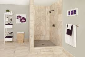 finished schluter shower beige square simple