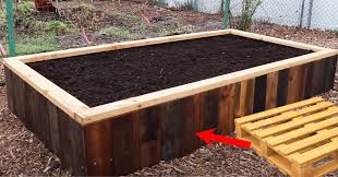 how to build a raised bed using pallets