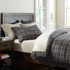 classic plaid organic duvet cover pillowcases