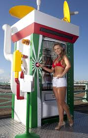 Corn Vending Machine Best Ola Jordan Promotes Kellogg's Corn Flakes In Red Bikini Top And