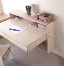 Plywood Wall Mounted Kids Study Desk Modern Design Made From Waste ...