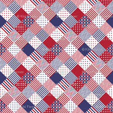 USA Americana Patchwork Red White & Blue Quilt Patterns fabric ... & USA Americana Patchwork Red White & Blue Quilt Patterns Adamdwight.com