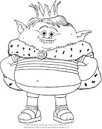 Disegno Di Principe Gristle Dei Trolls Da Colorare