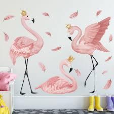 flamingo kids wall art stickers girls