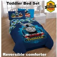 Details about Thomas the Train Toddler size Reversible comforter and sheet set for bedroom bed