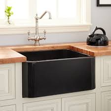 Granite Single Bowl Kitchen Sink 24 Polished Granite Farmhouse Sink Black Kitchen