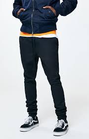 Pacsun Size Chart Mens Pacsun Black Drop Skinny Jogger Pants