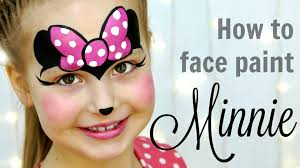 minnie mouse face painting tutorial fast easy makeup for kids you