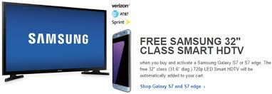 samsung tv at best buy. deal: get a free samsung tv when you purchase galaxy s7 from best buy tv at k