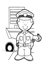 Woman Police Officer Coloring Page Free Printable Pages With ...