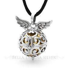 harmony ball angel sterling silver