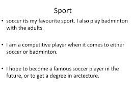 essay soccer my favorite sport my favorite sport soccer essays studymode