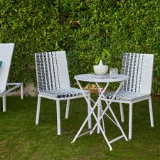 Outdoor furniture ideas Diy Black And White Patterned Bistro Set Hayneedle 2019 Outdoor Furniture Ideas Trends Hayneedle