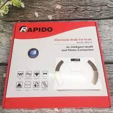 CÂN SỨC KHỎE THÔNG MINH RAPIDO RSF01-S, CÂN SỨC KHỎE ĐIỆN TỬ RAPIDO, Thiết  kế nhỏ gọn, có cảm ứng
