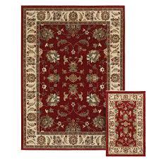 Oriental Weavers of America Legacy Red Rectangular Indoor Woven Area Rug  (Common: 5 x
